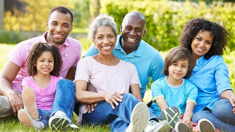 Family Smiling at the Park | Saticoy Plaza Dentistry